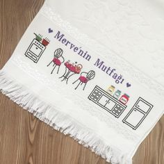 Merve Diy And Crafts, Cross Stitch, Table Decorations, Handmade, Home Decor, Miniature Kitchen, Cross Stitch Rose, Dish Towels, Cross Stitch Embroidery