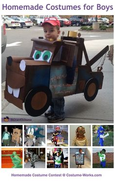 Homemade Costumes for Boys - a lot of costume ideas!