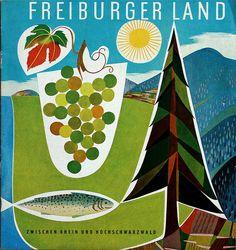 Cover of travel brochure for Freiburger Land, ca 1960s. via allerleirau