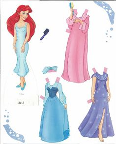 (⑅ ॣ•͈ᴗ•͈ ॣ) ✄Miss Missy Paper Dolls: Disney sets-Little Mermaid                                                                                                                                                                                 More