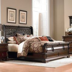 Shop for Liberty Furniture King Sleigh Bed, and other Bedroom Sleigh Beds at Kettle River Furniture and Bedding in Edwardsville, IL and St Louis, MO. Bed Furniture, Bedding Sets, Bed, Furniture, Sleigh Bedroom Set, Bedroom Decals, Murphy Bed Plans, Liberty Furniture, Bedroom Furniture