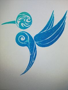 Semicolon hummingbird design. Might be nice cleaned up and redesigned a little bit, but a good general idea.