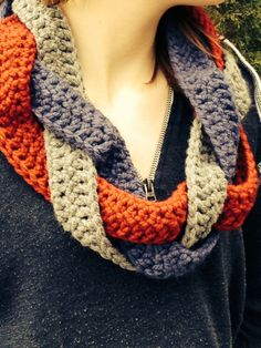 Braided Crochet Cowl on Etsy, $30.00 CAD