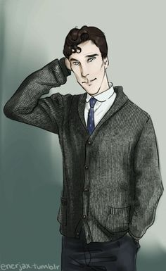 """""""SWEATERBATCH"""" - Oh goodness!  I am in love with enerjax's drawing style.  She captures Benedict so wonderfully.  Also, this is a .gif!  It MOVES!  The way he blinks and scratches his head is adorable.  Doodlebatch is almost as precious as Actual-batch, lol."""