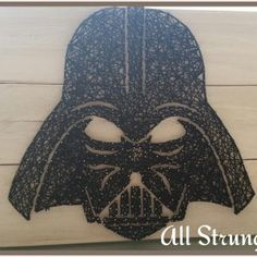 Darth Vader string art all strung up