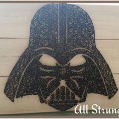 Darth Vader string art all strung up