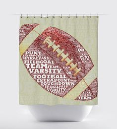 Touchdown! Football shower curtain!