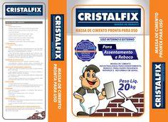 Embalagem massa de Reboco Pronta mais um inovador produto das industrias Cristalfix.