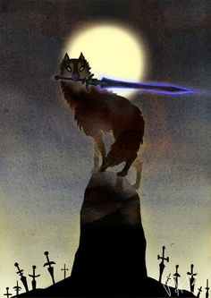 This is Sif the great grey wolf from dark souls