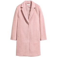 Short Wool-blend Coat $129 ($129) ❤ liked on Polyvore featuring outerwear, coats, wool blend coat, pink coats, fur-lined coats and short coat