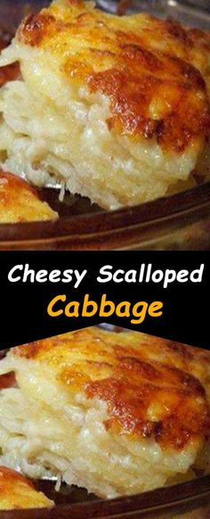 cheesy scalloped potatoes recipe easy and quick! Easy Potato Recipes, Easy Casserole Recipes, Side Dish Recipes, Vegetable Recipes, Low Carb Recipes, Cooking Recipes, Easy Cabbage Recipes, Cabbage Ideas, Best Cabbage Recipe