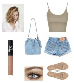 """summer"" by laurel8760 on Polyvore featuring Topshop, Levi's, M&Co, Michael Kors and NARS Cosmetics"