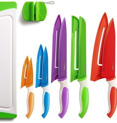 (This is an affiliate pin) 12 Piece Colored Sharp Knife Set