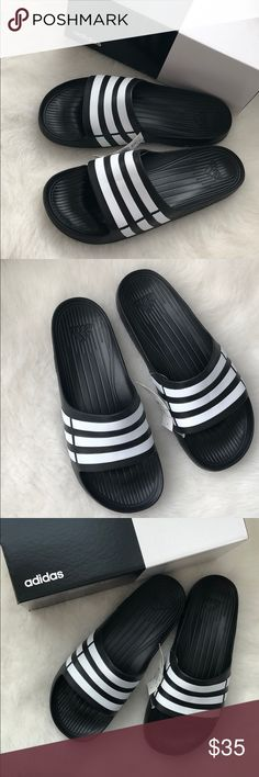 8c9096fffa5b Shop Men s adidas Black White size Various Sandals   Flip-Flops at a  discounted price at Poshmark.