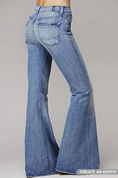 Fun, faded bell bottoms