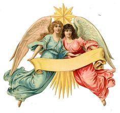 Glanzbilder - Victorian Die Cut - Victorian Scrap - Tube Victorienne - Glansbilleder - Plaatjes : Engel als Tischkarte etc.