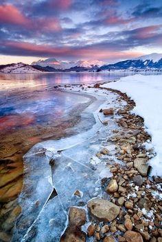 Fabulous in so many ways--love the big sheets of broken ice. --Pia (Lake Campotosto, Abruzzi, Italy)