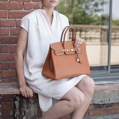 Hermes Potiron Epsom Birkin 35 - LOVE that BAG - Preowned Authentic Designer Handbags Hermes Bags, Hermes Handbags, Designer Handbags, Betty Boop Purses, Kelly Bag, Top Designer Brands, Michael Kors Hamilton, Birkin, Hermes Kelly