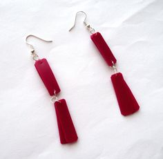 Pink #earrings made of #recycled plastic bottle by @dekoprojects #upcycled #upcycledjewelry