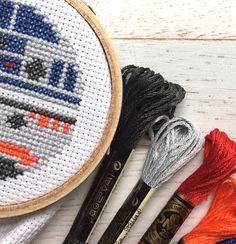 R2D2 & BB8 Star Wars Cross Stitch PATTERN DOWNLOAD Needlework