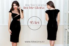 Black velvet and transparent details are the elements that make this beautiful black occasion dress a very special outfit. Shop it here, at a super price: https://missgrey.ro/ro/rochii/rochie-gloria/245?utm_campaign=reducerile_primaverii&utm_medium=rochie_gloria&utm_source=pinterest_produs