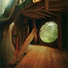 "Build a hidden place! From the book ""Woodstock Handmade Houses """