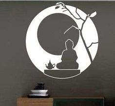 PEGATINA VINILO DECORATIVO PARED ORIGINAL ORIENTAL ZEN