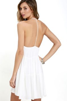 Such a Tease Ivory Halter Dress at Lulus.com!