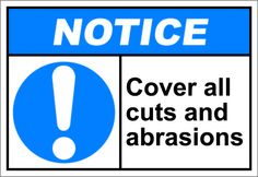 Cover all cuts and abrasions $1.64   #signs