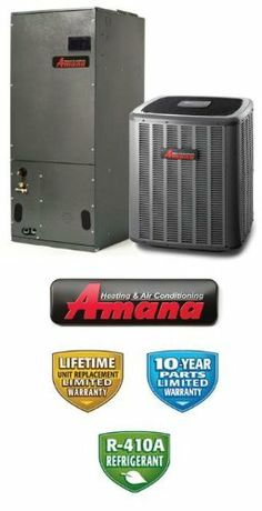 3 Ton 18 Seer Amana Heat Pump System - ASZC180361 - AVPTC42601 by Amana. $3559.00. Amana 2 Stage Heat Pump with Variable Speed Blower (R-410A)