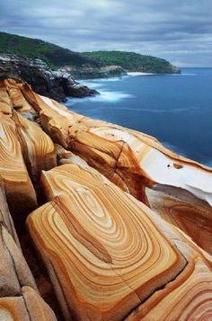 Liesegang Rings at Bouddi National Park, New South Wales, Australia Please…