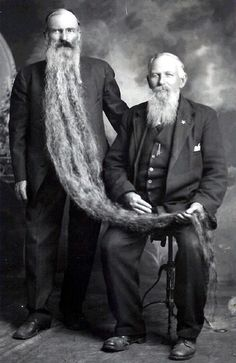 11.11 am Friday 13th, 1892: fortunately, Cecil and Edwin did not suffer from sibling rivalry, otherwise Cecil's lovely beard would not have been in safe hands.