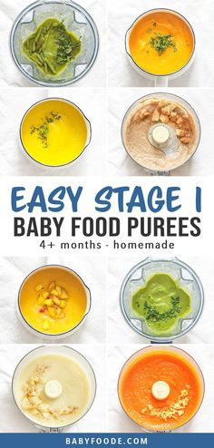 10 Super Starter Baby Food Recipes (plus FREE ebook!) - 10 Super Starter Baby Food Recipes (plus FREE ebook!) Baby is going to love these 10 stage one st - Baby Puree Recipes, Pureed Food Recipes, Baby Food Recipes, Cooking Recipes, Banana Recipes, First Finger Foods, Baby First Foods, Homemade Baby Puffs, Homemade Baby Foods
