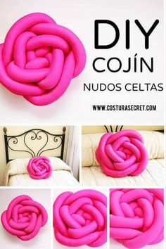 Discover thousands of images about DIY DECO Knot Cushion, Knot Pillow, Cushion Pillow, Bolster Pillow, Diy Sewing Projects, Sewing Crafts, Pillow Tutorial, Diy Tutorial, Yarn Crafts