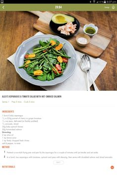 Clean Eating Recipes, Cooking Recipes, Healthy Recipes, 28 By Sam Wood, Michelle Bridges, Interesting Recipes, 28 Days, Tomato Salad, Smoked Salmon