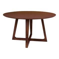 Lauge rundt spisebord (Valnød)