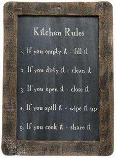 Kitchen Rules, Country Kitchen, Kitchen Ideas, Kitchen Sayings, Country Homes, Rustic Kitchen Decor, Kitchen Themes, Art For The Kitchen, Kitchen Stuff