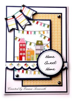 New Home Card using kasiercraft fine & sunny papers