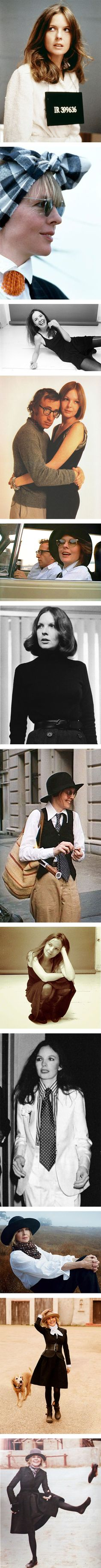 12 cool photos of Diane Keaton's best style moments via Nuji.com
