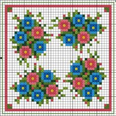 Posies free cross stitch chart