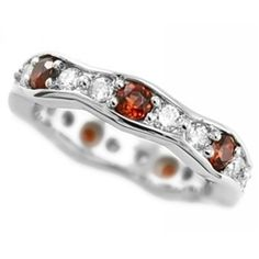 find this pin and more on cool things fine red garnet diamond eternity wedding band by jewelrypoint