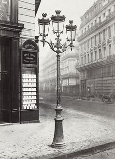 1860s Paris streets and monuments were illuminated by 56,000 gas lamps