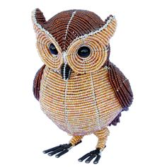 Fathers Day Gift Idea - Beaded Beadworx Owl, Horned| Grass Roots Creations