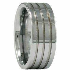 9MM Men's Tungsten Wedding Ring w/ Three Groves. Engraving for this ring is available at #ringninja. $59.99.       http://ring-ninja.com/9mmturiwthgr.html