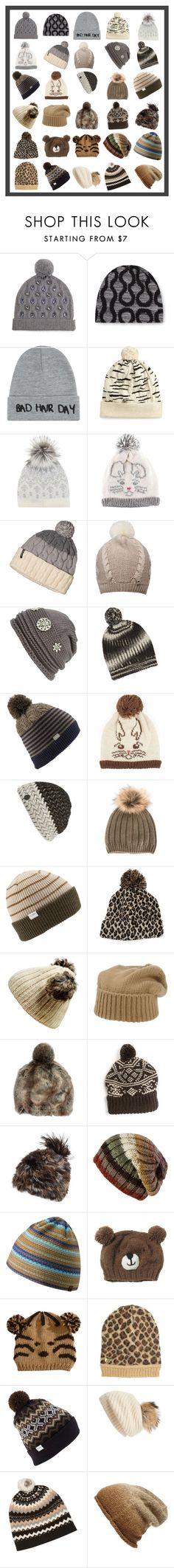 """""""Beanies in Gray, Brown, and White"""" by franceseattle ❤ liked on Polyvore featuring Markus Lupfer, Local Heroes, Rosie Sugden, Mint Velvet, Coal, Patagonia, UGG Australia, Cara, M.Patmos and Vince Camuto"""