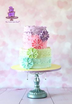 PASTEL Ruffles & Flowers - Cake by Violet - The Violet Cake Shop™