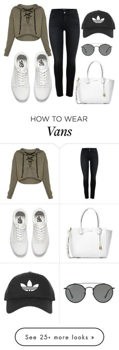 out#2 by kekkambreigns on Polyvore featuring Vans, Michael Kors, Ray-Ban and Topshop