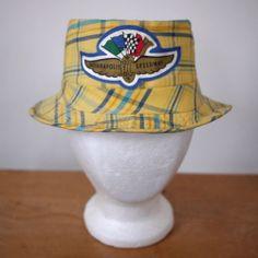 Vintage Indy 500 Indianapolis Motor Speedway Madras Plaid Pork Pie Hipster Hat