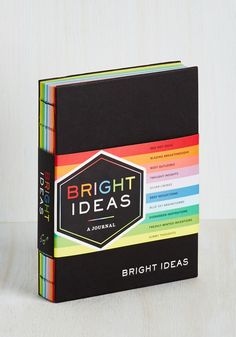 Bright Ideas Journal. When inspiration strikes, pair your ingenuity with the rainbow pages of this journal from Chronicle Books! #multi #modcloth