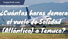 Horas de vuelo entre Soledad y Temuco